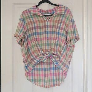 Lucky Brand XL Classic Fit Plaid Shirt